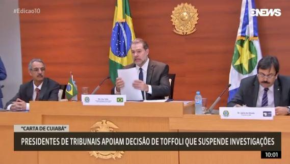 Rede aciona o Supremo contra decisão de Toffoli que suspendeu investigações