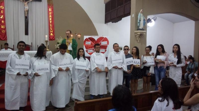 Paróquia do junco celebra missa de enceramento da XIV semana do dízimo