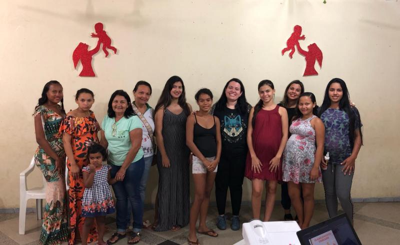 Cras realiza mais uma palestra com as gestante de Lagoinha do Piauí