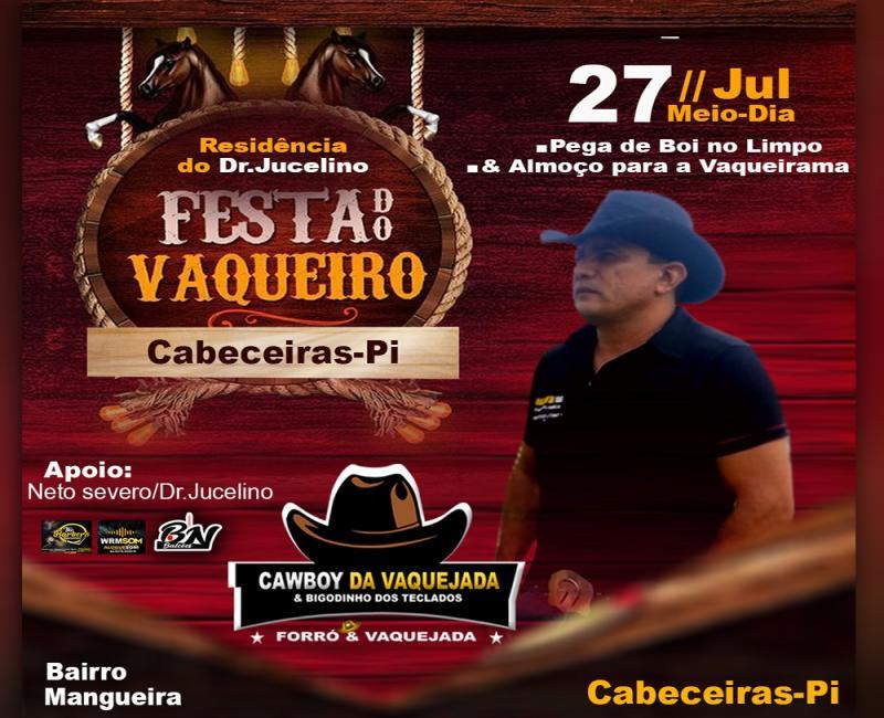 Vem aí mais uma edição da Festa do Vaqueiro no dia 27 em Cabeceiras