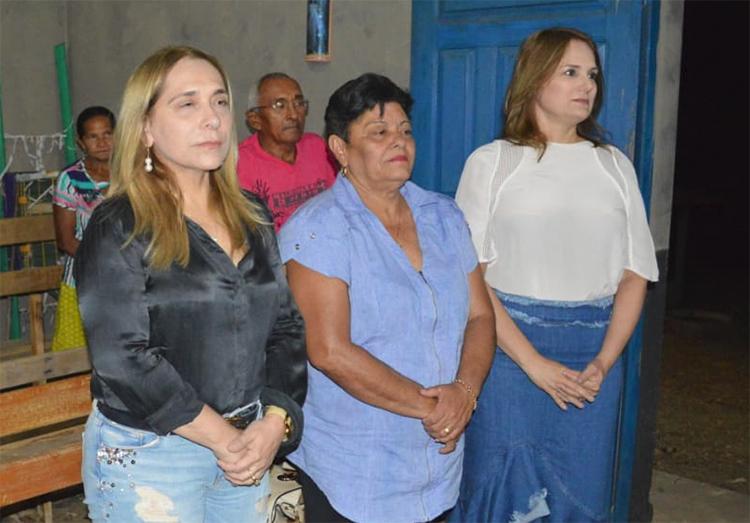 Ana Paula participa dos festejos de 'São Cristovão' na localidade Pontes
