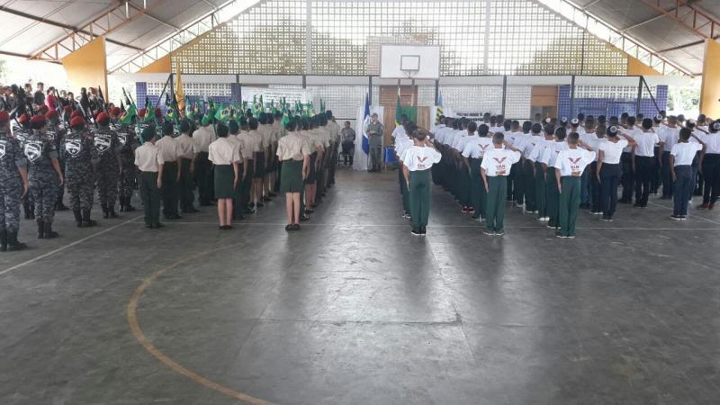 1° Campeonato de futsal e Ordem Unida Militar, organizado pelo Pelotão Mirim de Olho d'água do Piauí