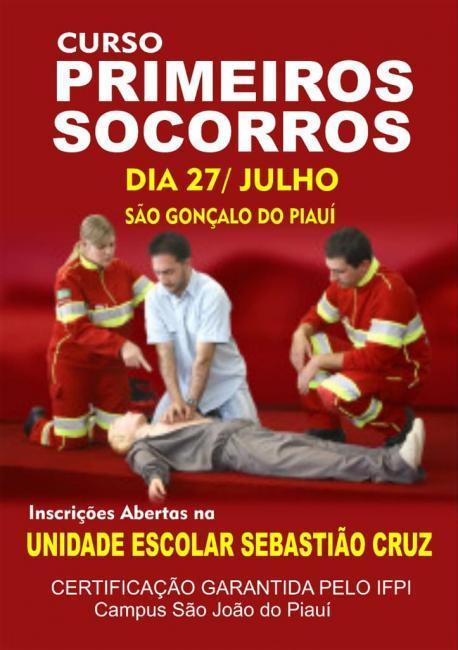 Curso Básico de Primeiros Socorros será realizado em São Gonçalo do Piauí