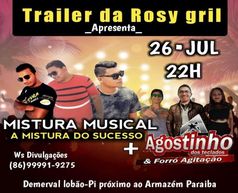 Demerval Lobão | Grande seresta no trailer da Rosy Gril, nesta sexta (26)
