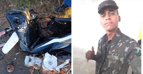 Militar do exército morre após sofrer grave acidente de moto