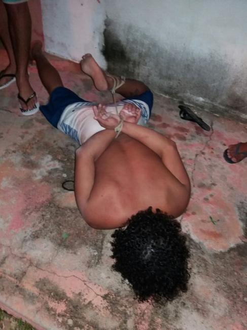 Motorista bêbado provoca acidente e é amarrado pela população no Piauí