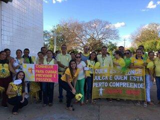 Prefeitura através da Secretaria de Saúde de Prata realiza 'Setembro Amarelo'