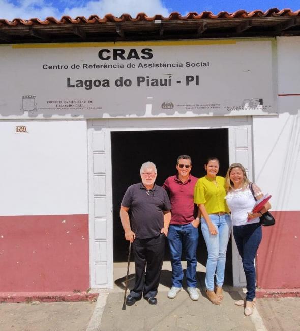 Assistência Social recebeu equipe da SASC em Lagoa do Piauí