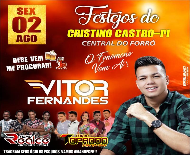 Show de VITOR FERNANDES será realizado nessa sexta feira dia 2