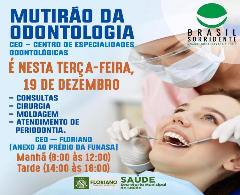 Secretaria de Saúde realiza Mutirão de Odontologia nesta terça-feira (19)