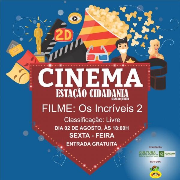 Cultura promoverá 1ª sessão de cinema na Estação Cidadania Nivaldo Jr