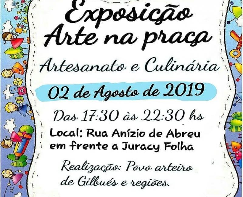 Exposição Arte na Praça em Gilbués Piauí, dia 02 de agosto 2019