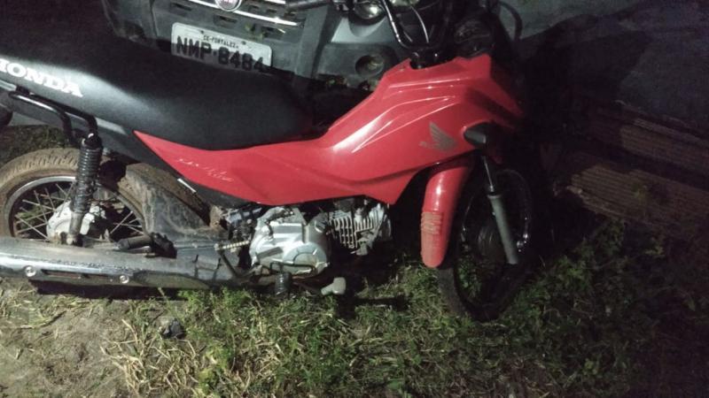 Moto roubada em São João do Arraial é recuperada em Matias Olímpio