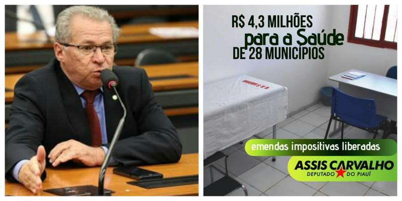 São João do Arraial e 27 municípios recebem emendas do dep Assis Carvalho