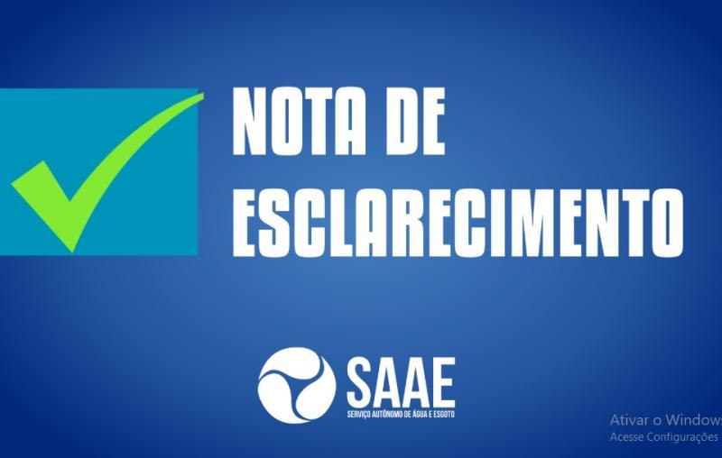 SAAE desmente informações falsas sobre tarifação aplicada em Oeiras