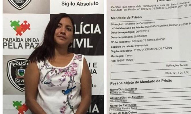 Presa na Paraíba mulher que matou a vizinha no Residencial Cocais