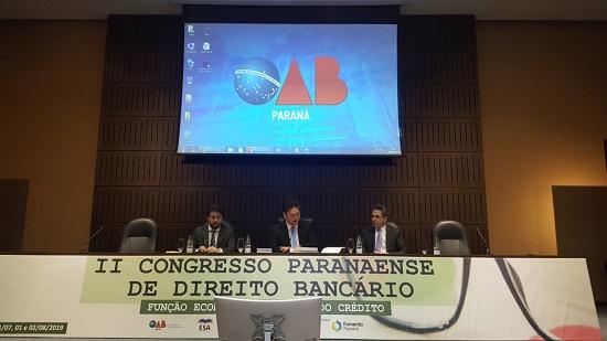 OAB Piauí participa do II Congresso Paranaense de Direito Bancário