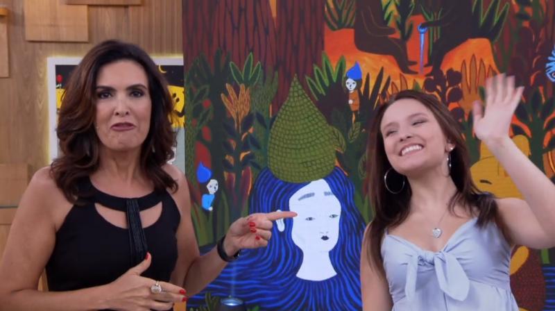 Contratada do SBT, Larissa Manoela vai ao Encontro de Fátima Bernardes