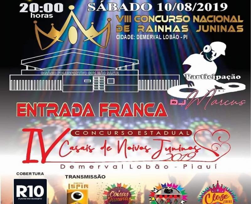 Concurso nacional acontece em Demerval Lobão, sábado (10)