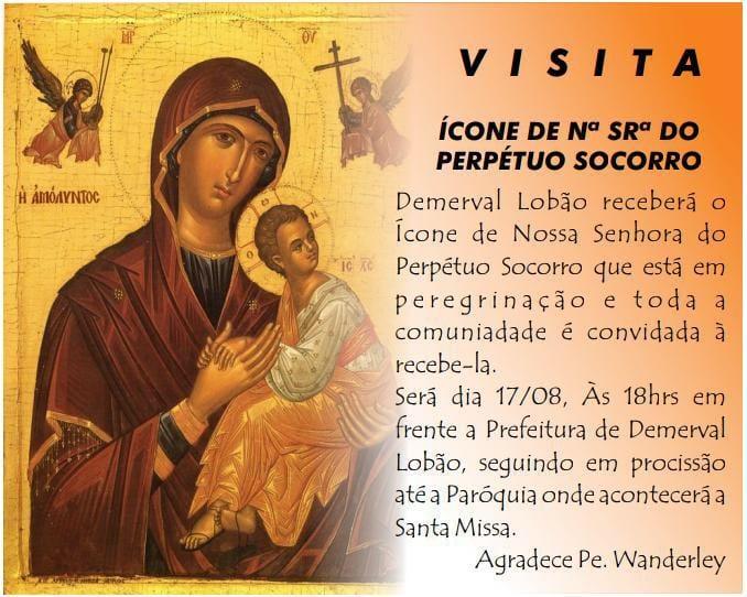 Demerval Lobão | Participe da visita do ícone de Nª Srª do Perpétuo Socorro