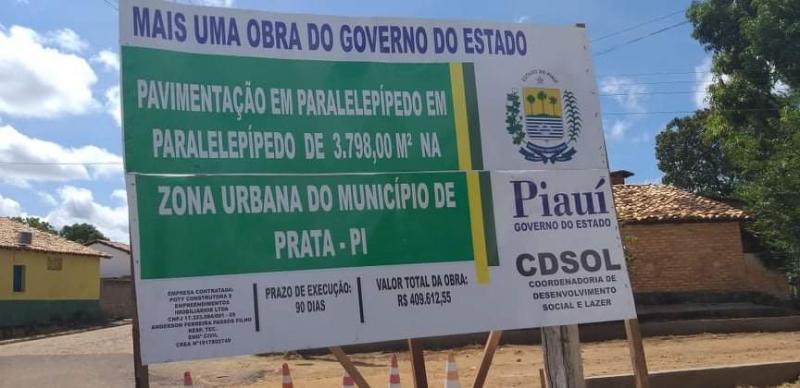 Presidente da Câmara de Prata do Piauí conseguiu obras de mobilidade urbana