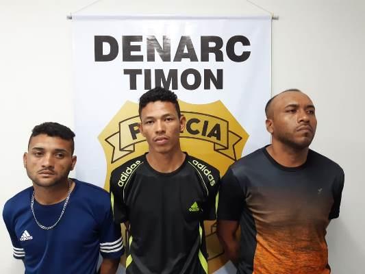 Denarc/Timon prende 3 acusados de tráfico na Rua do 'Papôco'