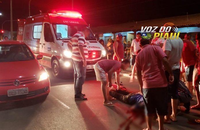 Homem fica gravemente ferido após ser atropelado em Piripiri