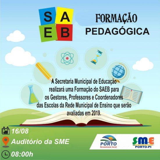 Secretaria Municipal de Educação de Porto realizará formação do SAEB