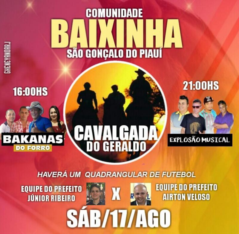 São Gonçalo - PI-Sábado será de cavalgada e futebol na Comunidade Baixinha