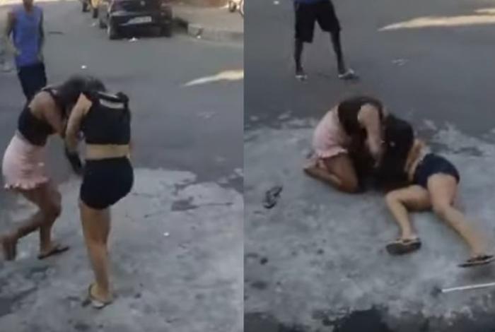 Cenas fortes! Jovem mata amante do pai no meio da rua