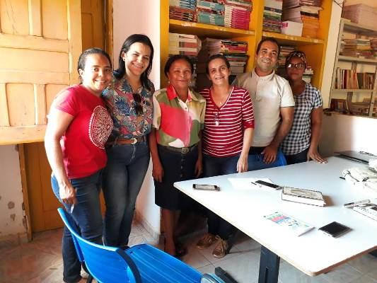 Equipe da secretaria visita escolas da zona rural de Colônia do Gurgueia