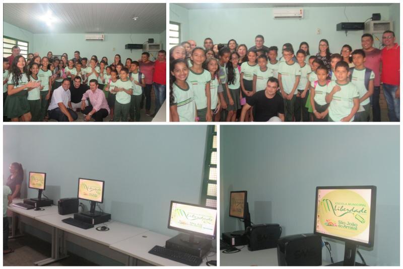 Escola Municipal da Liberdade recebe oficialmente novos computadores
