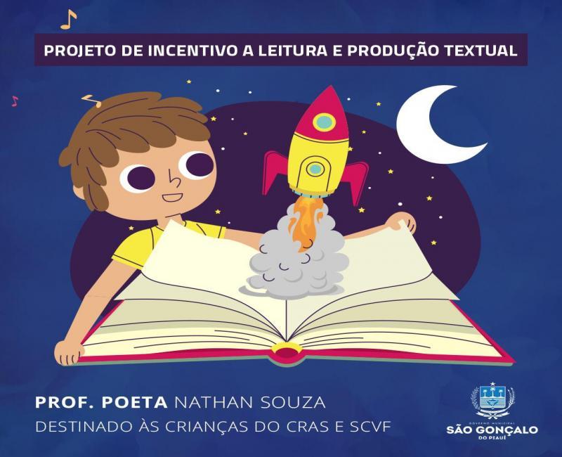Prefeitura de São Gonçalo-PI lança projeto de leitura e produção textual