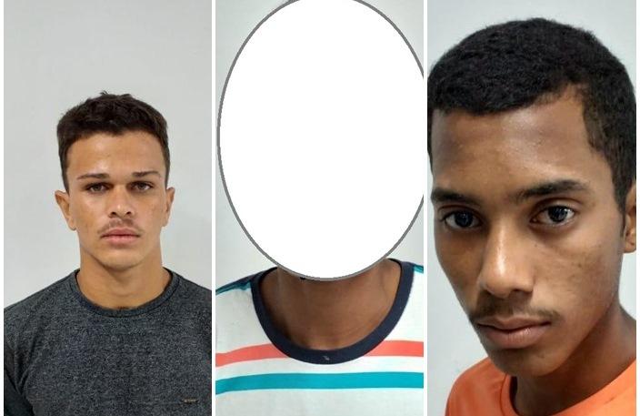 Trio capturado e arma de fogo apreendida pela Força Tática/Timon