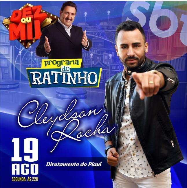 Cantor residente em Bocaina se apresentará hoje no programa do Ratinho