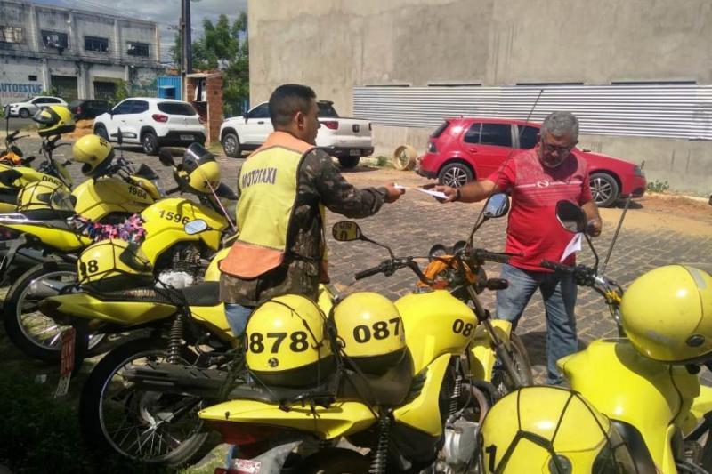 Strans prorroga a renovação de alvará para mototaxistas