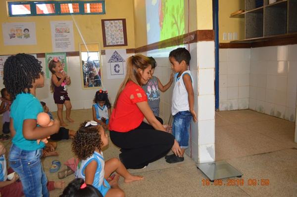 Equipe do Programa Crescer Saudável atua na Creche de Colônia do Gurgueia