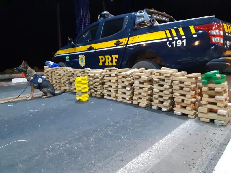 PRF apreende quase 300kg de droga avaliada em R$ 2 milhões no PI