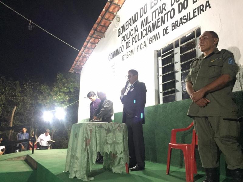 Subtenente Deusimar Canuto promove culto evangélico no GPM de Brasileira