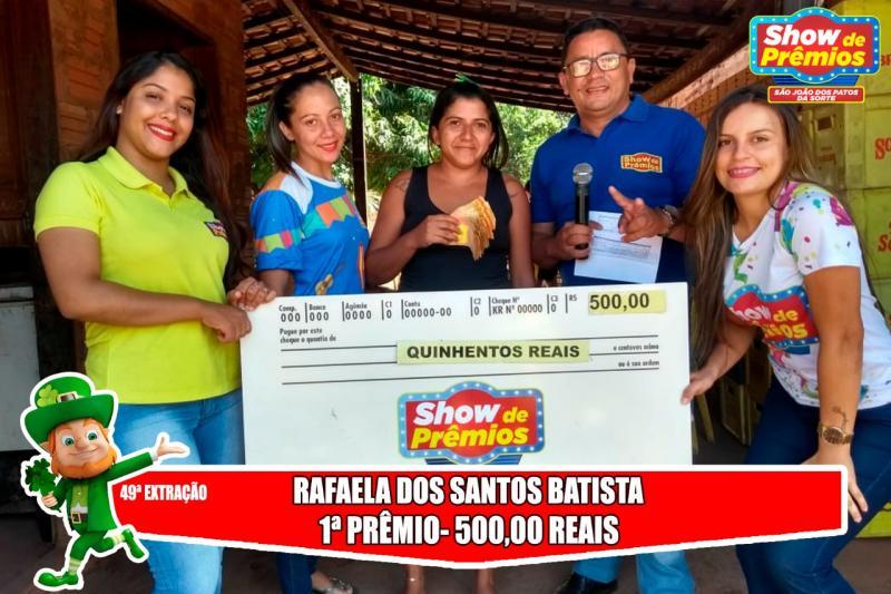 Ganhadores da 49° extração do show de prêmios São João dos Patos da sorte