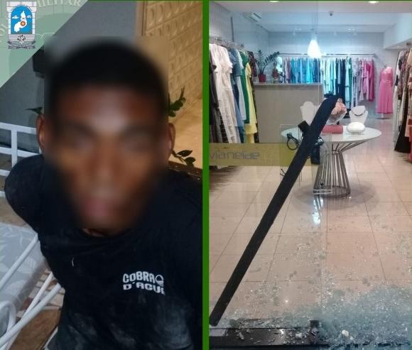 Homem é preso por tentar furtar loja na zona leste de Teresina