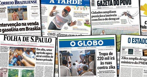 22 de agosto, quinta-feira – As notícias que são destaques na mídia HOJE