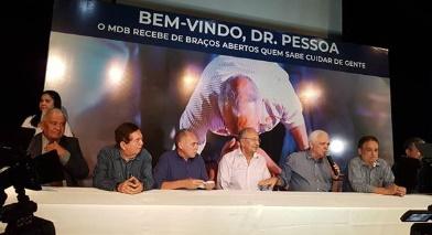 Dr. Pessoa e mais dois ex-deputados se filiam ao MDB