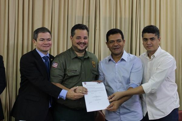 Rafael Leitoa participa da assinatura de convênio entre a SEAP-MA e PMT