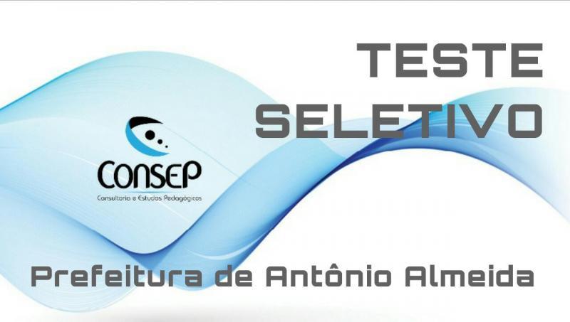 Aberto inscrições do Teste Seletivo de Antônio Almeida