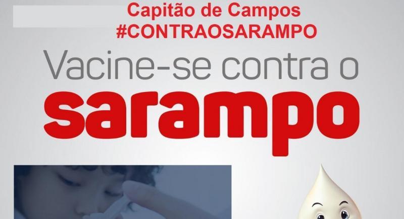 Capitão de Campos: Secretaria realiza vacinação contra sarampo