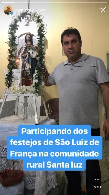 Vereador Prestigia Festejos em comunidade Rural do Município