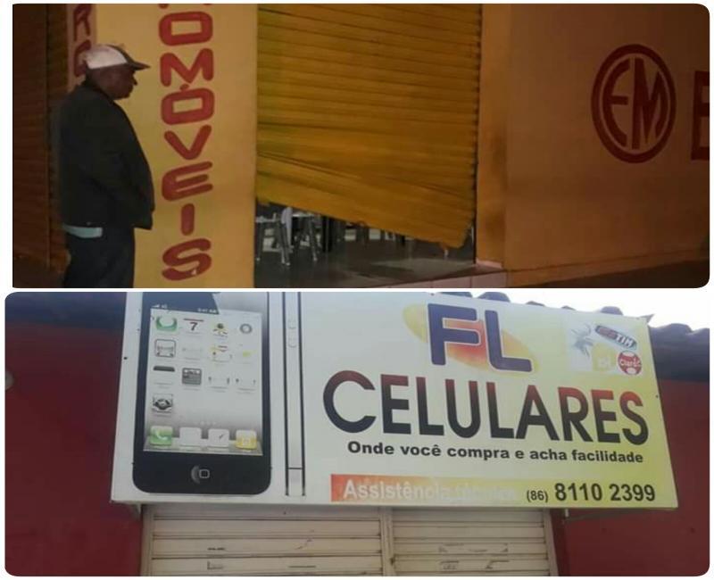 Arrastão em Cabeceiras: assaltantes arrombam duas lojas na madrugada