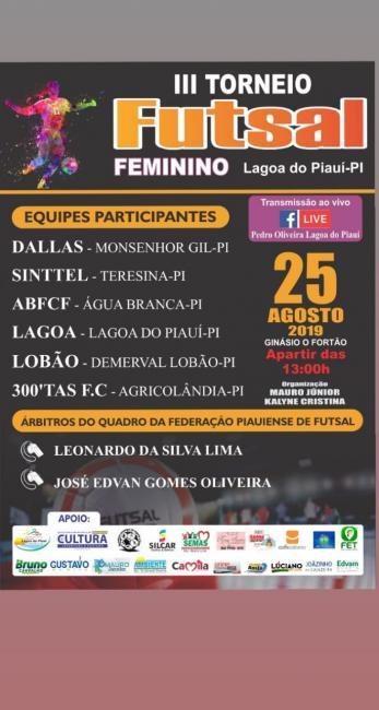 Lagoa do Piauí realiza 3° Torneio de Futebol Feminino