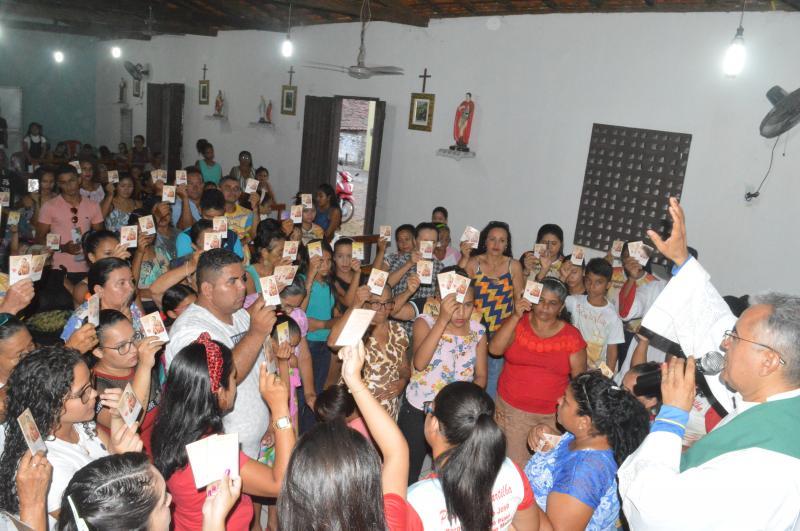 Missa dominical e da partilha no bairro Malhada de Areia